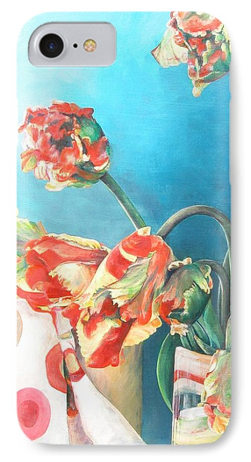 Still Life IPhone 7 Case featuring the painting Foulard by Muriel Dolemieux