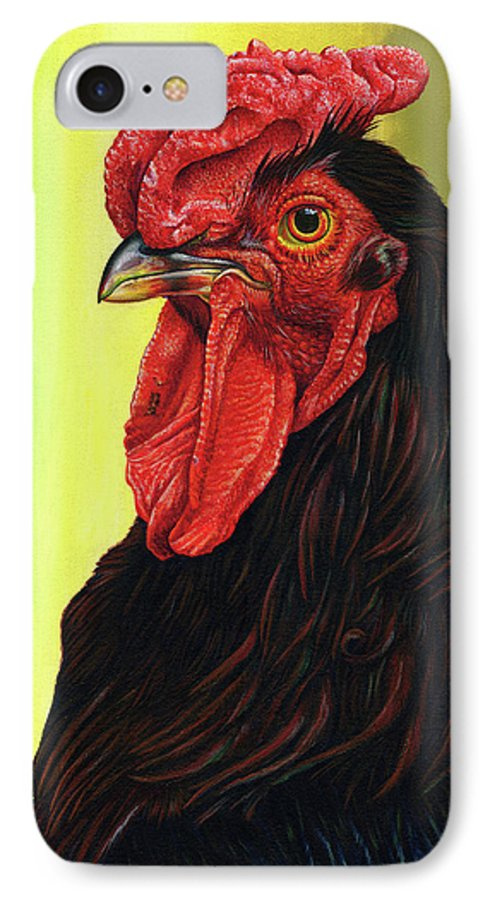Rhode IPhone 7 Case featuring the painting Fowl Emperor by Cara Bevan