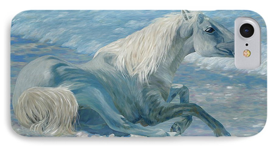 Seascape IPhone 7 Case featuring the painting Free Spirit by Danielle Perry