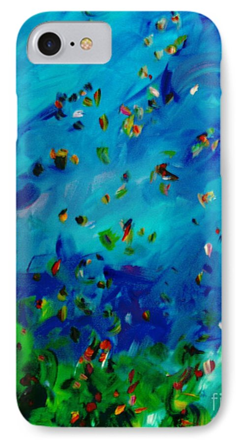 Landscape IPhone 7 Case featuring the painting Freelancing by Reina Resto