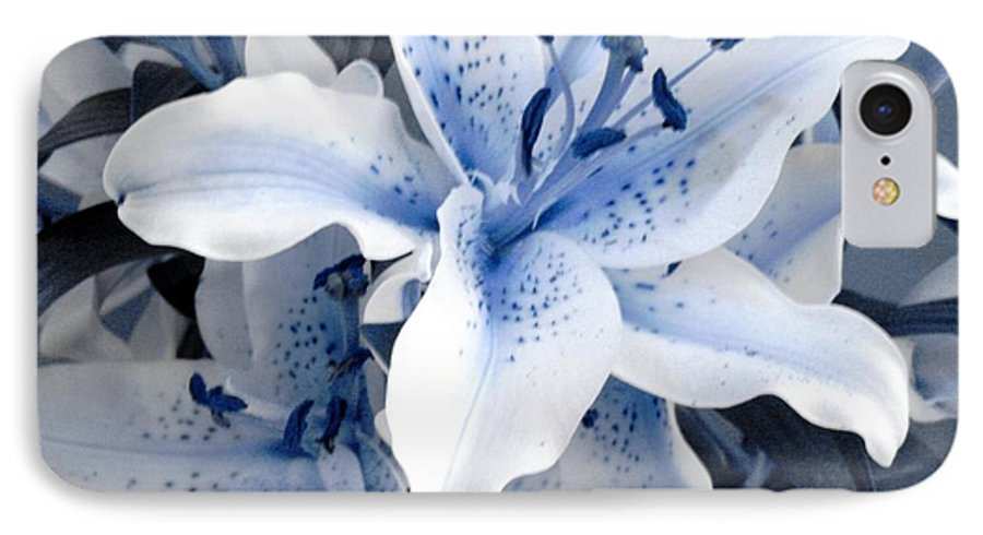 Blue IPhone 7 Case featuring the photograph Freeze by Shelley Jones