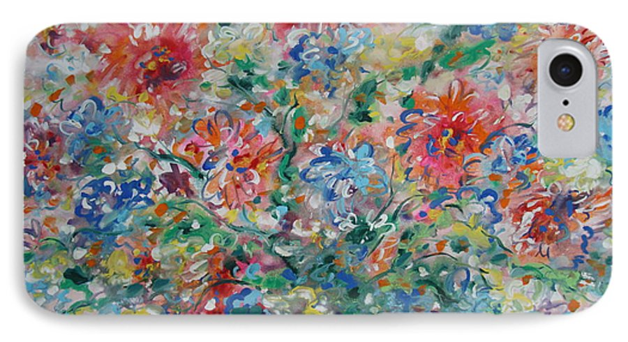 Flowers IPhone 7 Case featuring the painting Fresh Bouquet by Leonard Holland