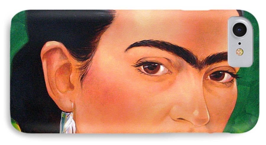 Frida Kahlo IPhone 7 Case featuring the painting Frida Kahlo 2003 by Jerrold Carton