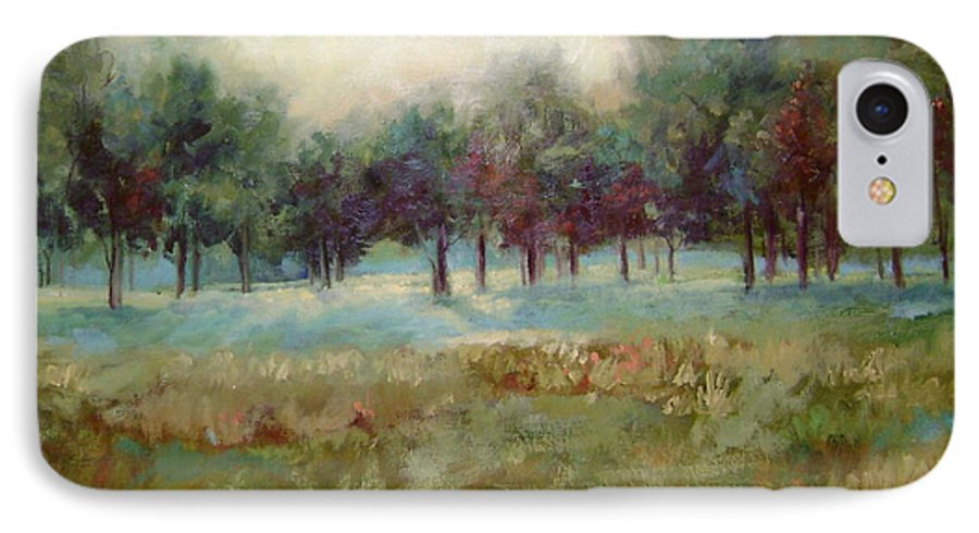 Country Scenes IPhone 7 Case featuring the painting From The Other Side by Ginger Concepcion