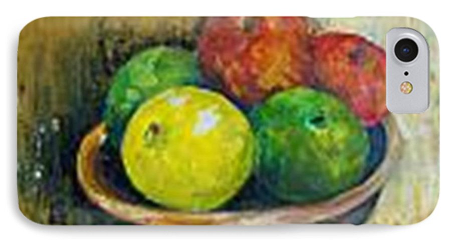 Apples And Oranges IPhone 7 Case featuring the painting Frutas by Carol P Kingsley