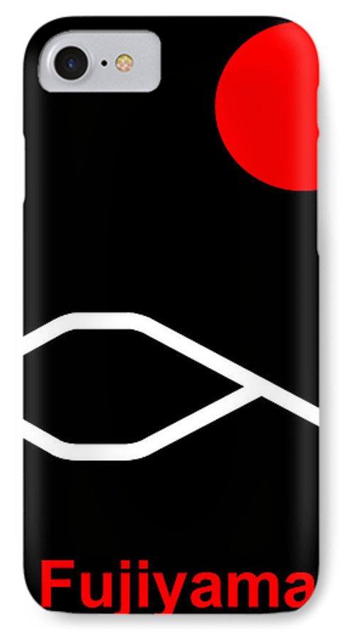 Fuji IPhone 7 Case featuring the digital art Fujiyama by Asbjorn Lonvig