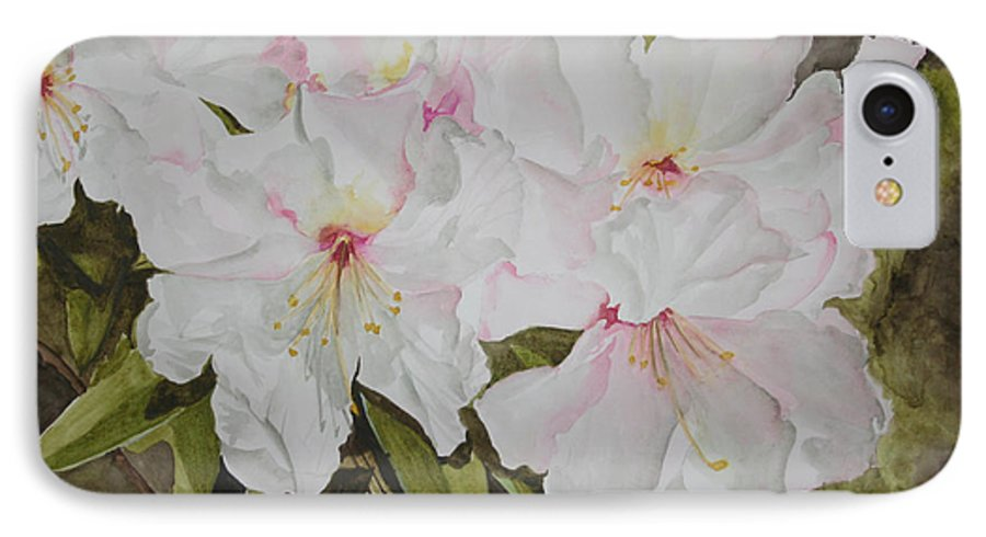 Flowers IPhone 7 Case featuring the painting Full Bloom by Jean Blackmer