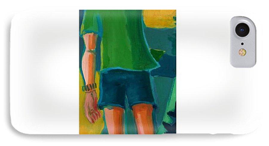Portrait IPhone 7 Case featuring the painting Gabrielle by Debra Bretton Robinson