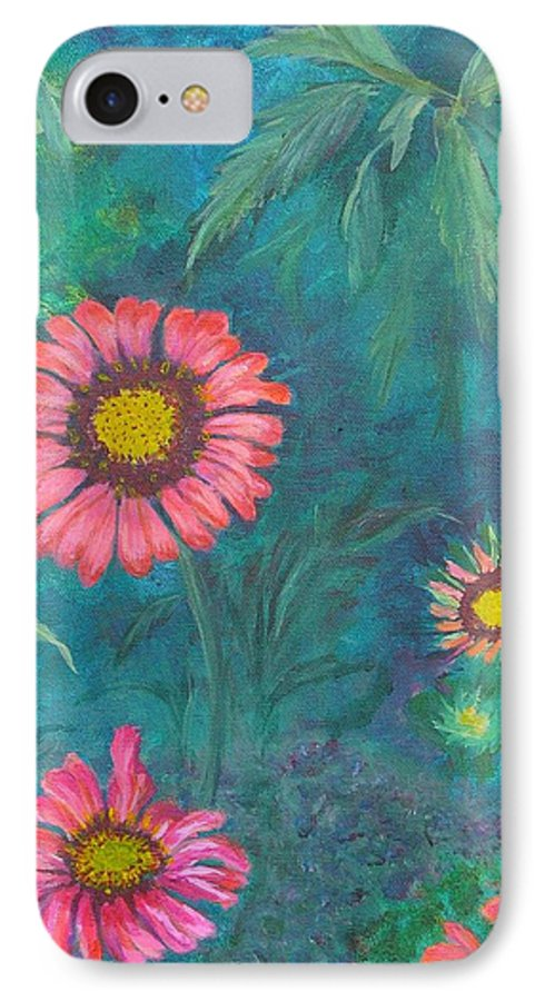 Garden IPhone 7 Case featuring the painting Gallardia by Peggy King