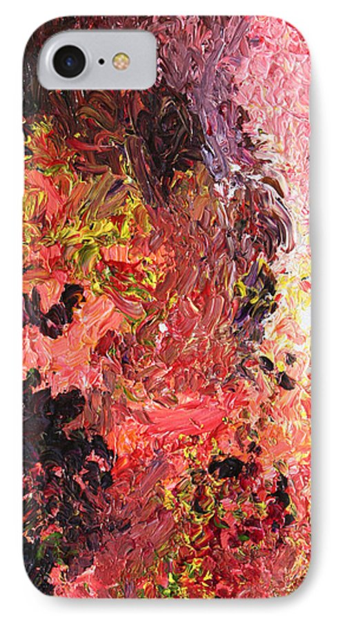 Fusionart IPhone 7 Case featuring the painting Ganesh In The Garden by Ralph White