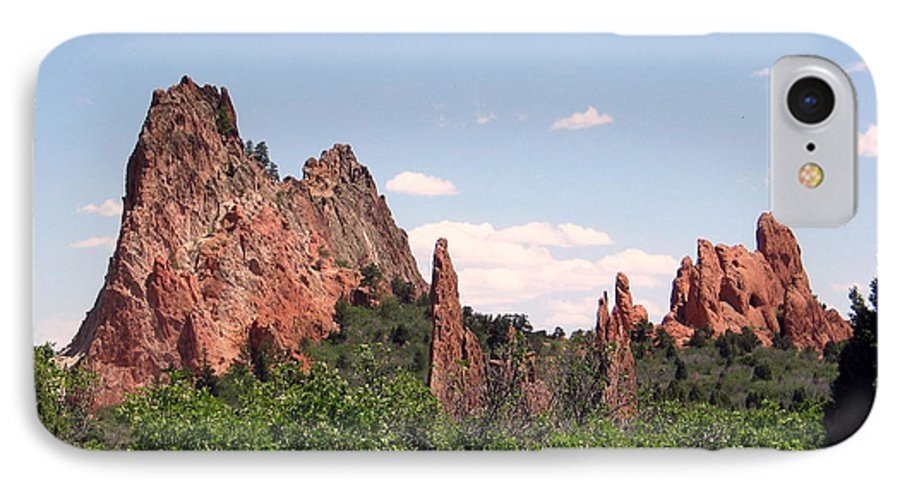 Colorado IPhone 7 Case featuring the photograph Garden Of The Gods by Margaret Fortunato