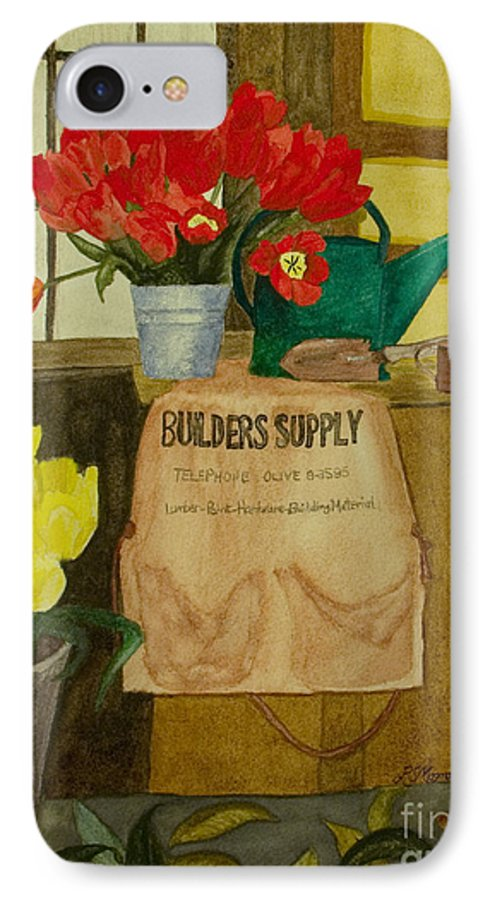 Tulips IPhone 7 Case featuring the painting Gardner by Louise Magno