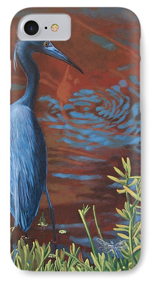 Painting IPhone 7 Case featuring the painting Gazing Intently by Peter Muzyka