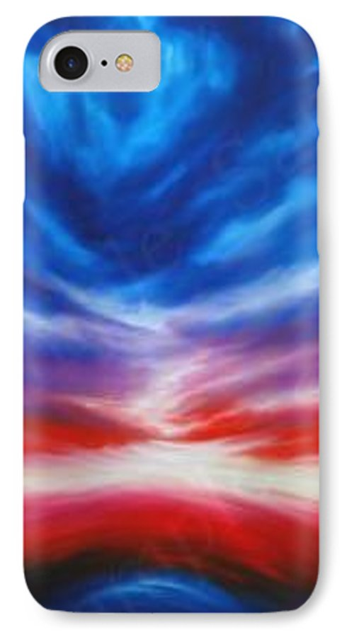 Tempest IPhone 7 Case featuring the painting Genesis IIi by James Christopher Hill