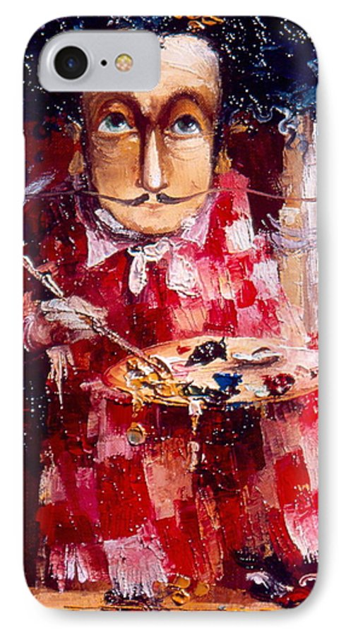 Genius IPhone 7 Case featuring the painting Genius by Gia Chikvaidze