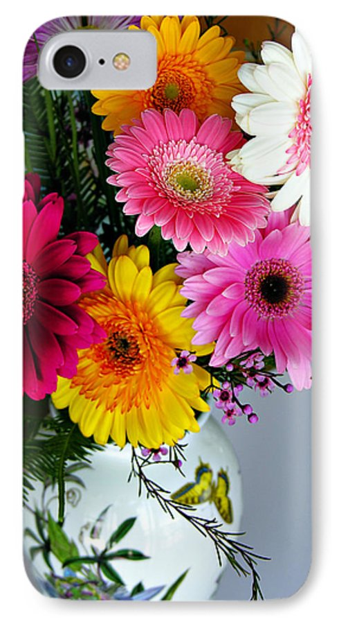 Flower IPhone 7 Case featuring the photograph Gerbera Daisy Bouquet by Marilyn Hunt