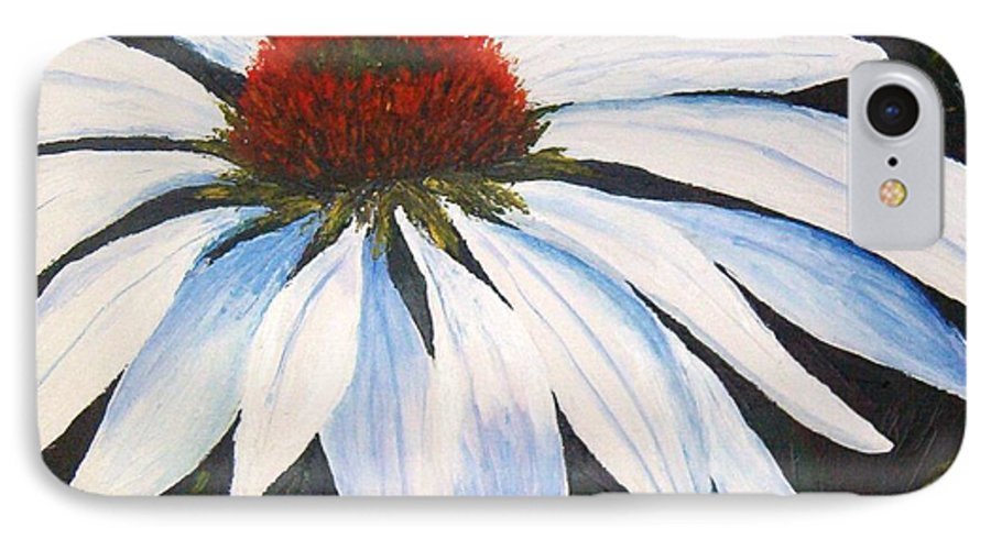 Cone Flowers IPhone 7 Case featuring the painting Ghost Cone by Tami Booher