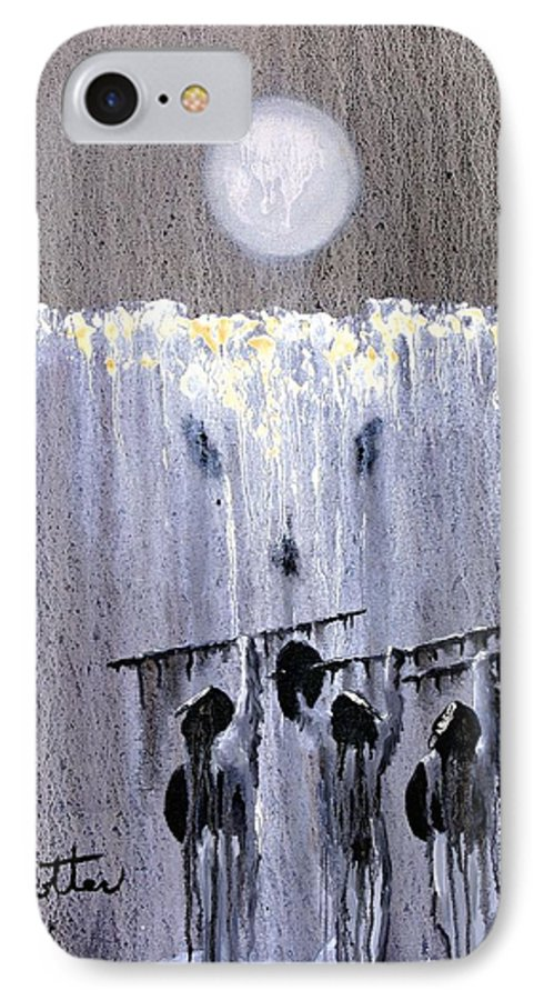 American Indian IPhone 7 Case featuring the painting Ghost Dance by Patrick Trotter