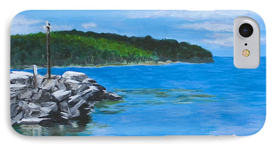 Gills Rock IPhone 7 Case featuring the painting Gills Rock by Peggy King