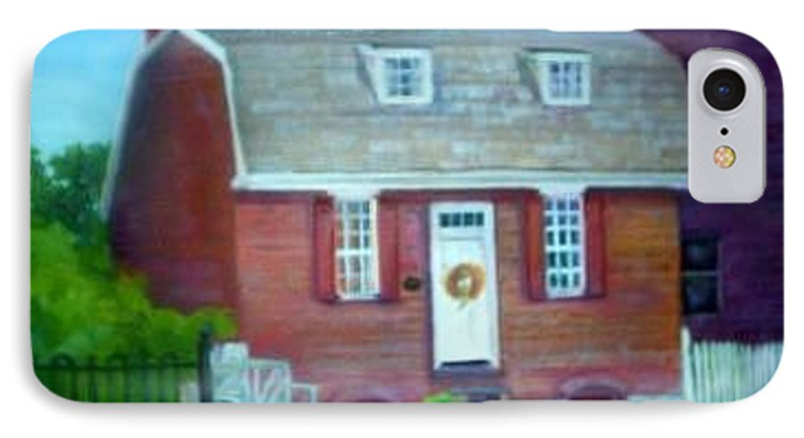 Revell House IPhone 7 Case featuring the painting Gingerbread House by Sheila Mashaw