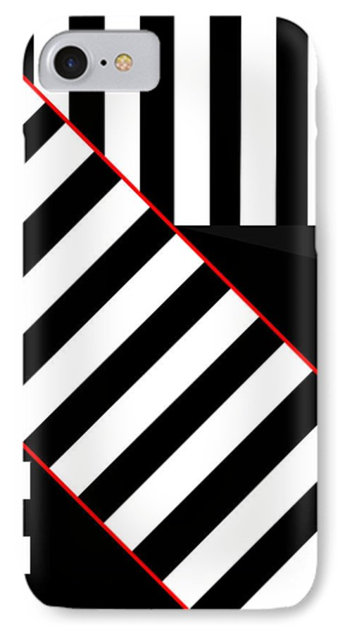 IPhone 7 Case featuring the digital art Ginza The Babel Legend by Asbjorn Lonvig