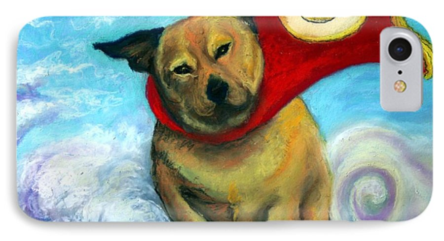 Dog IPhone 7 Case featuring the painting Gizmo The Great by Minaz Jantz