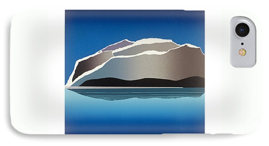 Landscape IPhone 7 Case featuring the mixed media Glaciers by Jarle Rosseland