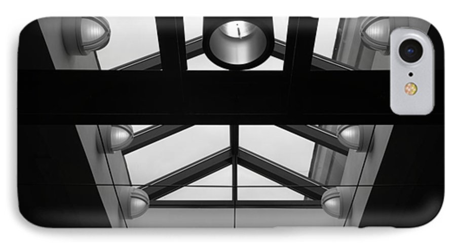Black And White IPhone 7 Case featuring the photograph Glass Sky Lights by Rob Hans