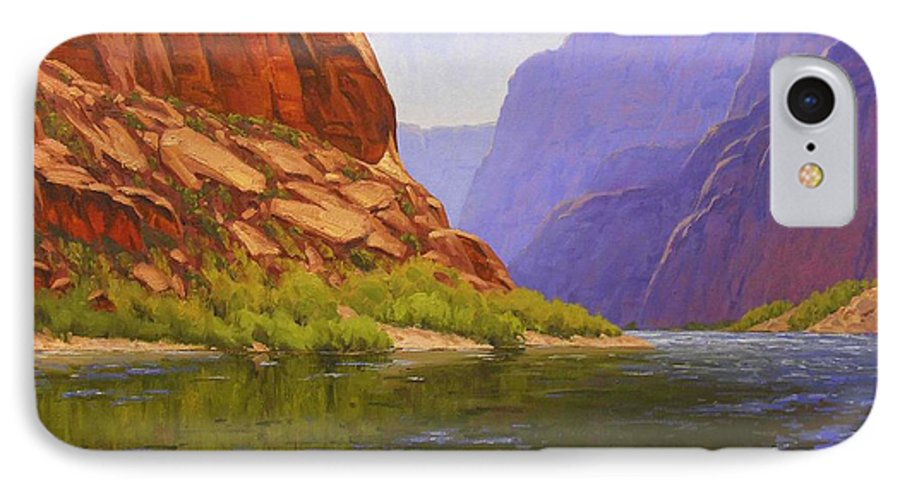 Cody Delong IPhone 7 Case featuring the painting Glen Canyon Morning by Cody DeLong