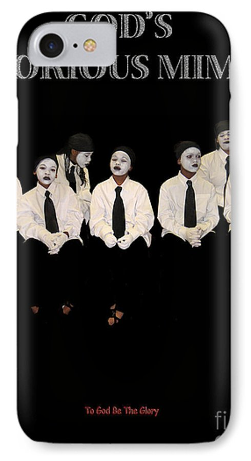 Young Mimes Waiting To Perform For God IPhone 7 Case featuring the photograph God by Reggie Duffie