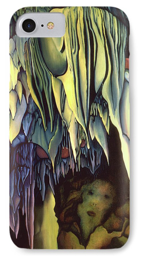 Carlsbad Caverns IPhone 7 Case featuring the painting Goddes Of Carlsbad Caverns by Anni Adkins
