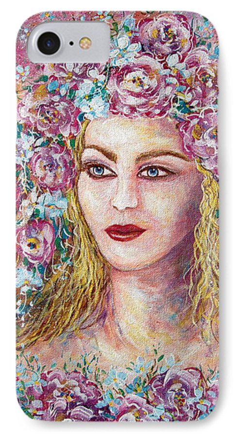 Goddess Of Good Fortune IPhone 7 Case featuring the painting Goddess Of Good Fortune by Natalie Holland