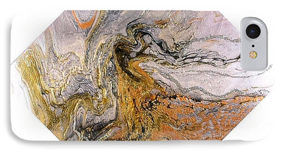 Abstract IPhone 7 Case featuring the painting Goddess by Patrick Mock