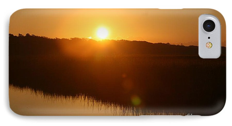 Glow IPhone 7 Case featuring the photograph Gold Morning by Nadine Rippelmeyer