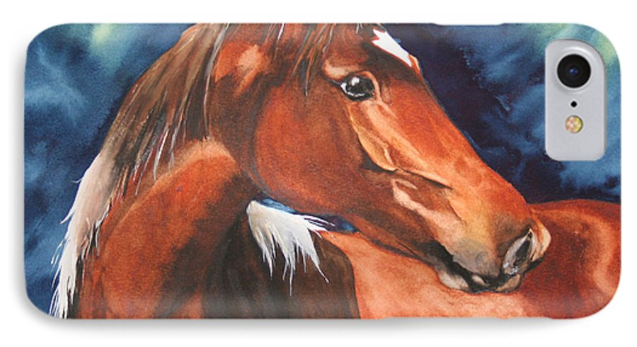 Horse IPhone 7 Case featuring the painting Golden Boy by Jean Blackmer