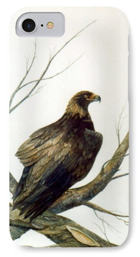 Eagle IPhone 7 Case featuring the painting Golden Eagle by Ben Kiger