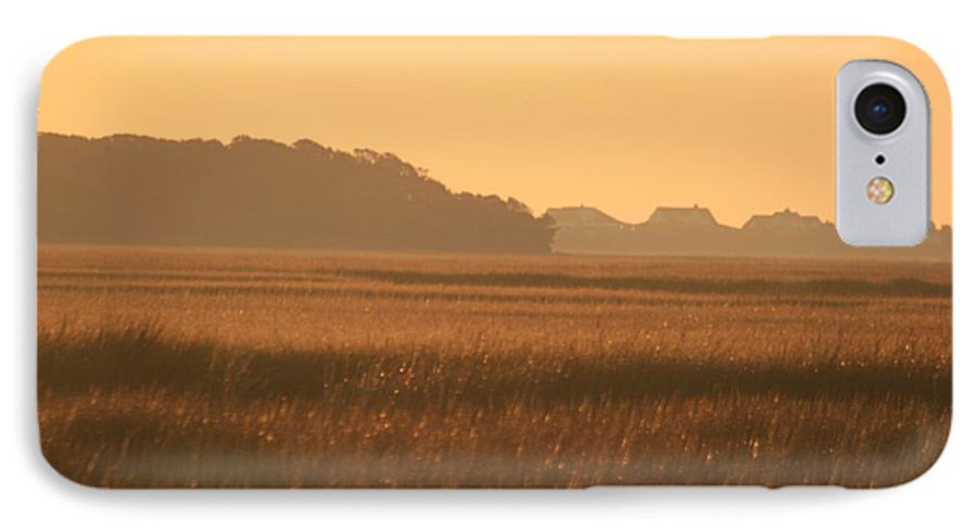 Marsh IPhone 7 Case featuring the photograph Golden Marshes by Nadine Rippelmeyer