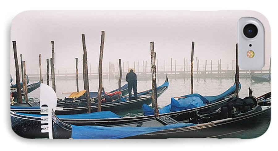 Landscape IPhone 7 Case featuring the photograph Gondolas by Kathy Schumann