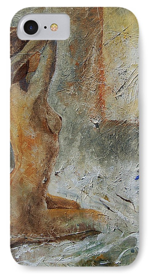 Nude IPhone 7 Case featuring the painting Good Morning Sunshine by Pol Ledent