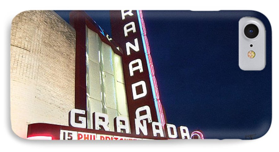 Music IPhone 7 Case featuring the photograph Granada Theater by Debbi Granruth