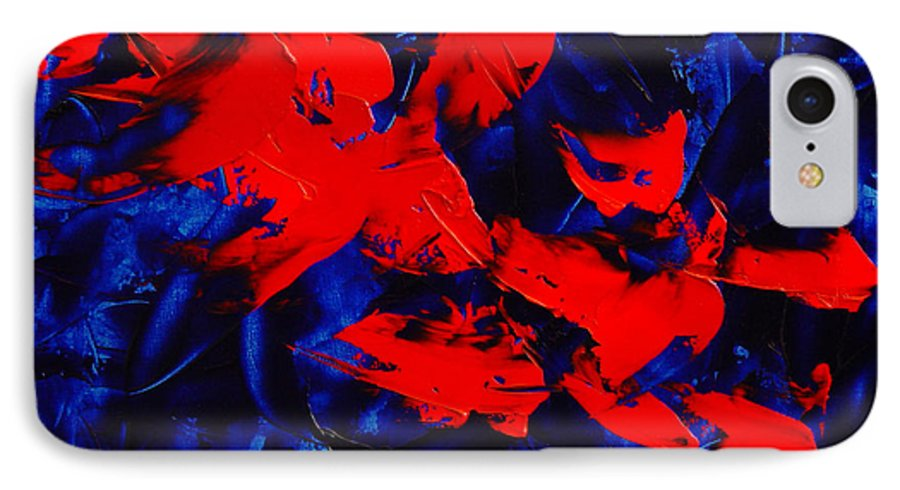 Abstract IPhone 7 Case featuring the painting Grandma II by Dean Triolo