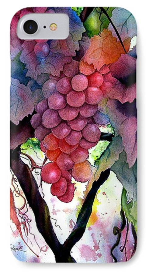 Grape IPhone 7 Case featuring the painting Grapes IIi by Karen Stark