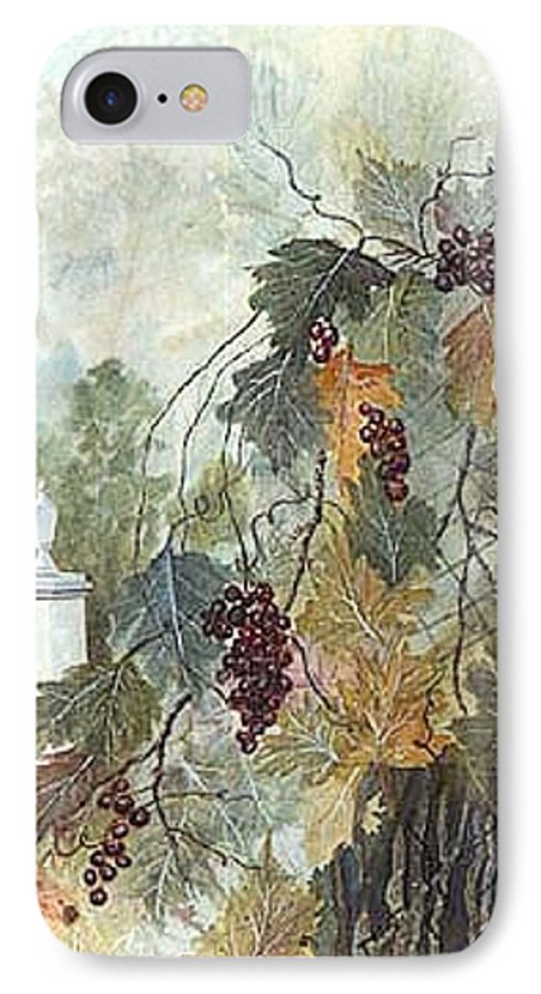 Fruit IPhone 7 Case featuring the painting Grapevine Topiary by Ben Kiger