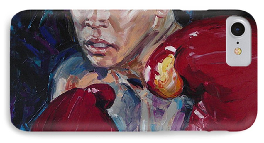 Figurative IPhone 7 Case featuring the painting Great Ali by Sergey Ignatenko