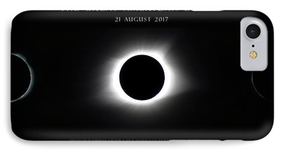 Great American Eclipse IPhone 7 Case featuring the photograph Great American Eclipse - Triptych by Jonathan Sabin