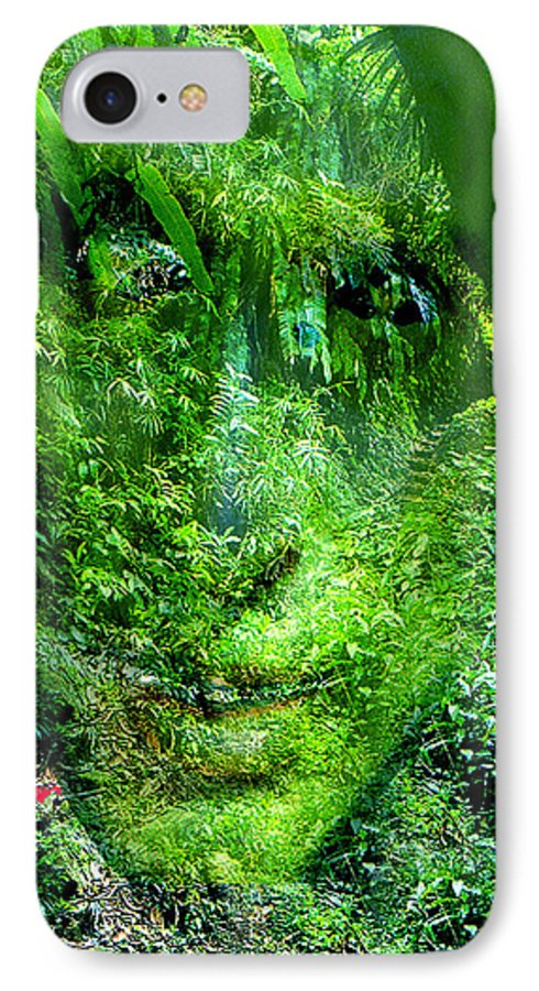 Nature IPhone 7 Case featuring the digital art Green Man by Seth Weaver