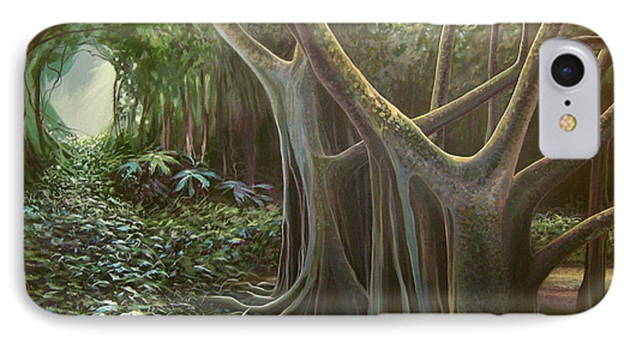 Barbados IPhone 7 Case featuring the painting Green Mansions by Hunter Jay