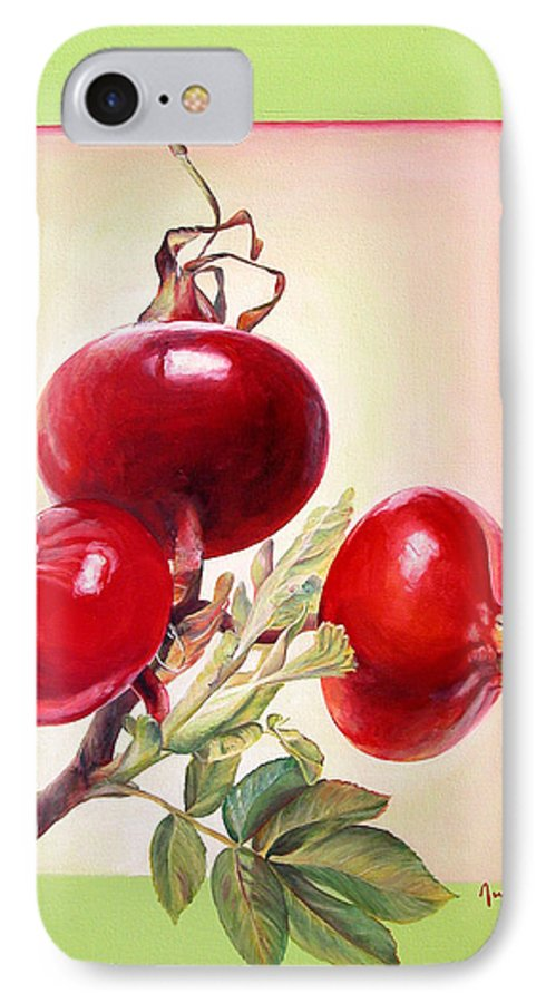 Still Life IPhone 7 Case featuring the painting Grenadine by Muriel Dolemieux