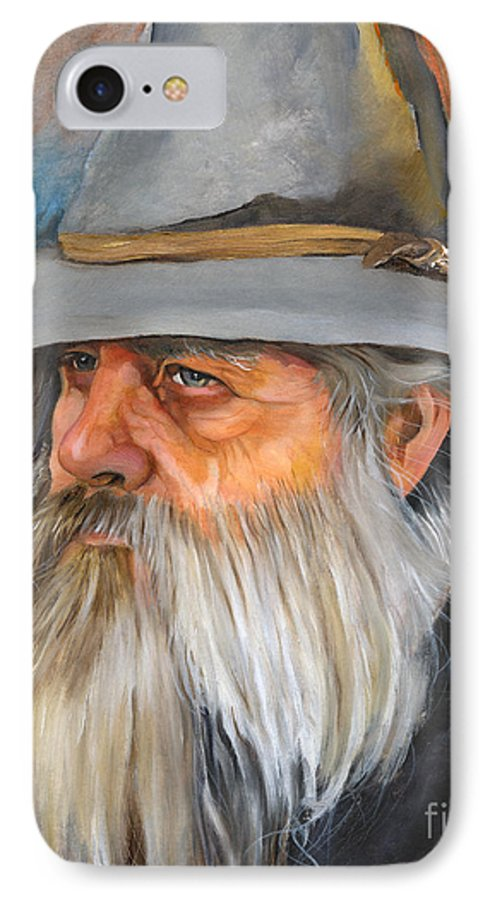Wizard IPhone 7 Case featuring the painting Grey Days by J W Baker