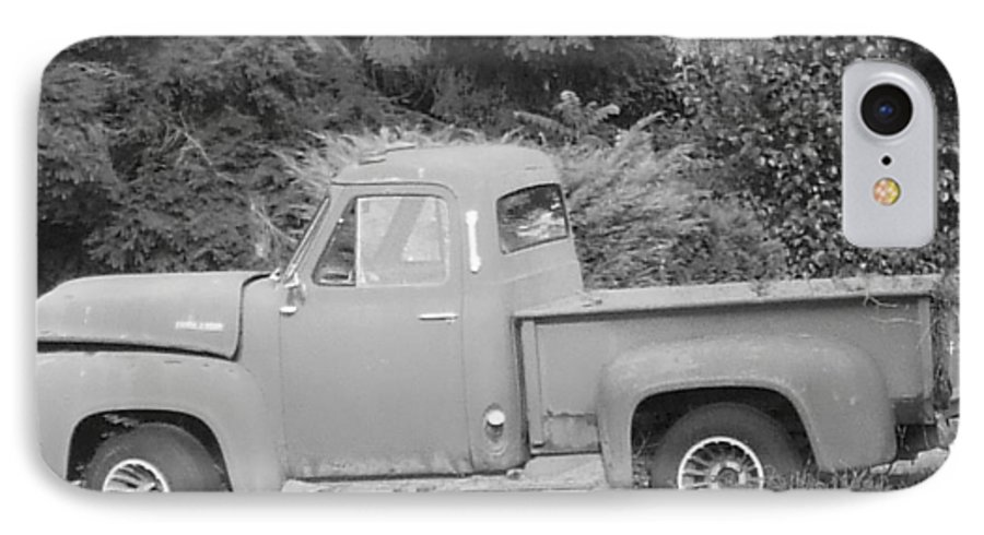 Truck IPhone 7 Case featuring the photograph Grounded Pickup by Pharris Art